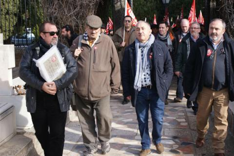 Líderes de UGT en una manifestación