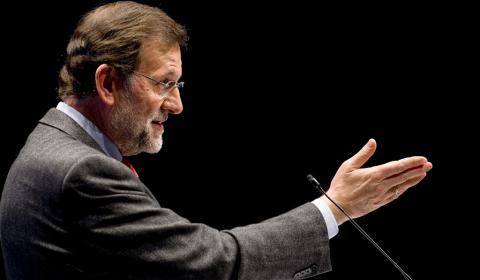 Mariano Rajoy, durante un mitin en Cantabria