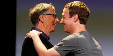 Mark Zuckerberg y Bill Gates