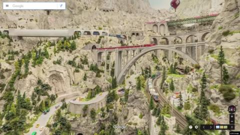 The model railway in MIniatur Wunderland is the largest in the world. It connects all the areas of the Wunderland, which represent some iconic places around the world.