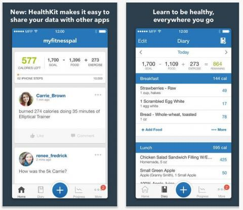 my fitness pal iphone