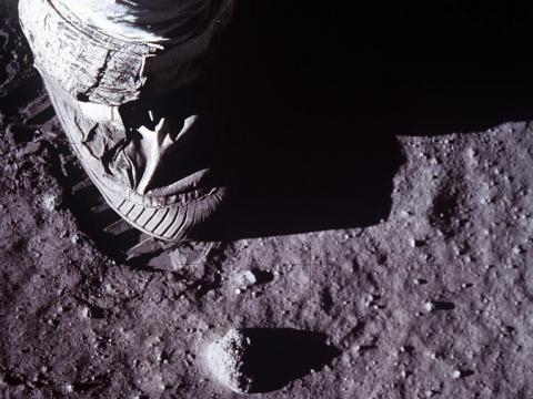 Neil Armstrong's foot on the moon.