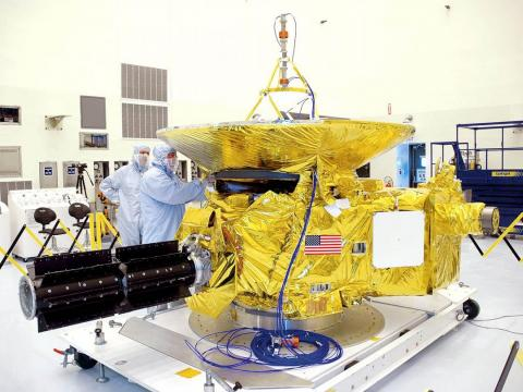 The New Horizons spacecraft before its launch in 2006.