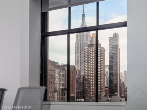 Las oficinas de Yelp en Nueva York un día soleado.