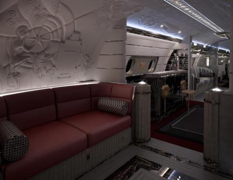 ... or the Hollywood Airship, which conveys the style, glamour, and luxury of Tinseltown in the 1930s.