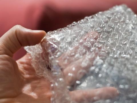 papel de burbujas