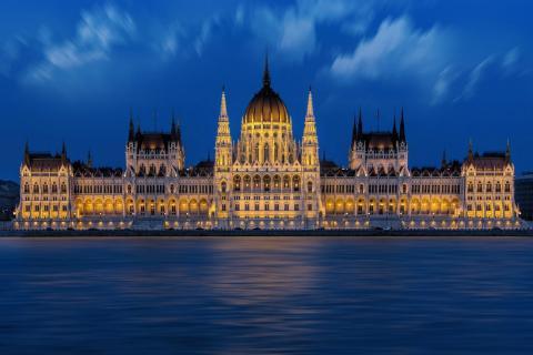 Foto del Parlamento de Budapest, en Hungría.