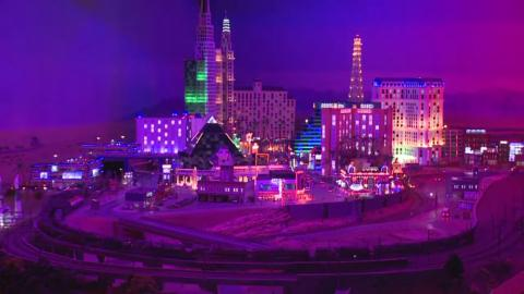 This part of the model is a tiny version of Las Vegas, Nevada.