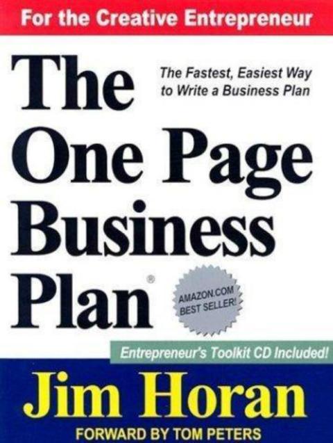 Plan de negocios de una hoja [RE]