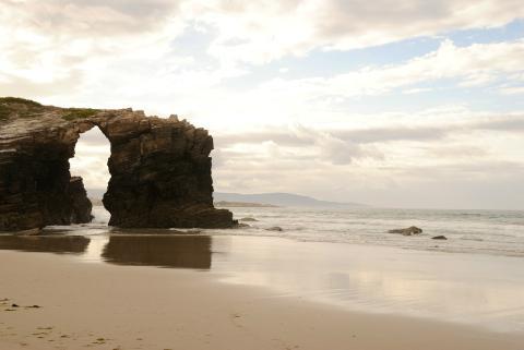 Paisaje de la Playa de las Catedrales, situada en la provincia gallega de Lugo.