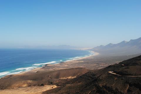 Paisaje de la Playa de Cofete, situada en Fuerteventura.