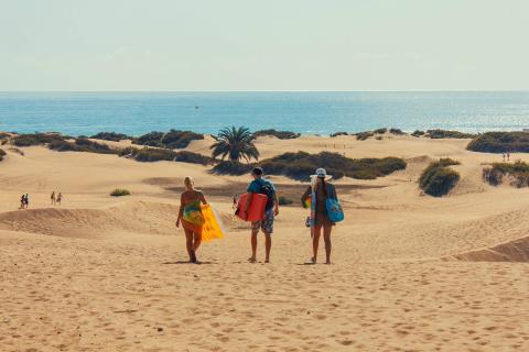 Paisaje de la Playa de Maspalomas, situada en las Islas Canarias.