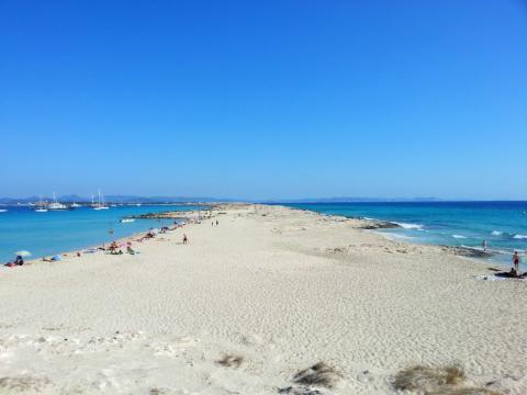 Paisaje de la Playa de Ses Illetes, en Formentera.
