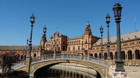 Fotografía de la Plaza de España, en Sevilla.