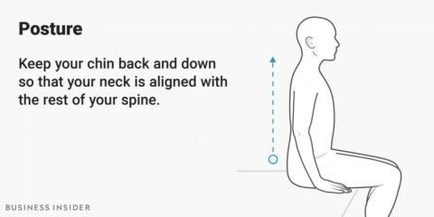 La postura recta puede hacerte más productivo.