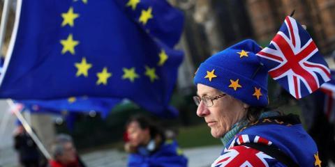 Protestas contra el Brexit ante el Parlamento [RE]