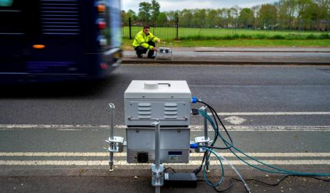 Con este equipo pueden medirse las emisiones reales de 1.000 vehículos/hora.