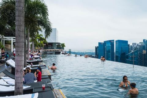 One thing that recurred during my travels was the difference between the magazine and Instagram images of a place and the reality. It was perhaps most striking at the Marina Bay Sands, a landmark building in Singapore that