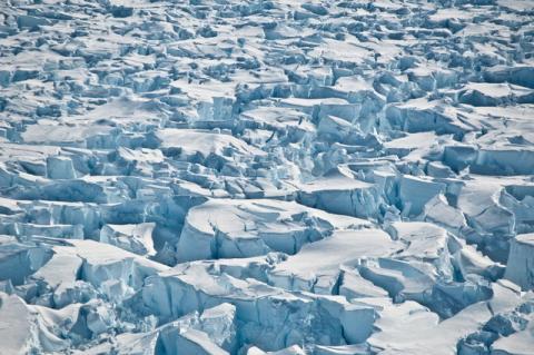 Grietas en la Antártida