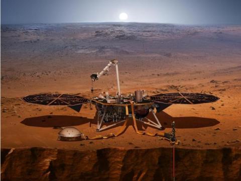 Satélite en Marte
