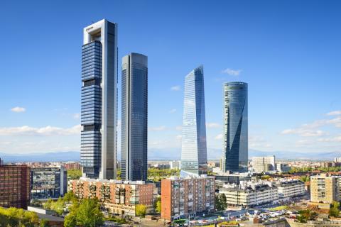 Skyline Madrid: distrito financiero con las cuatro torres