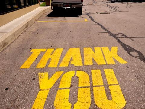 You show gratitude