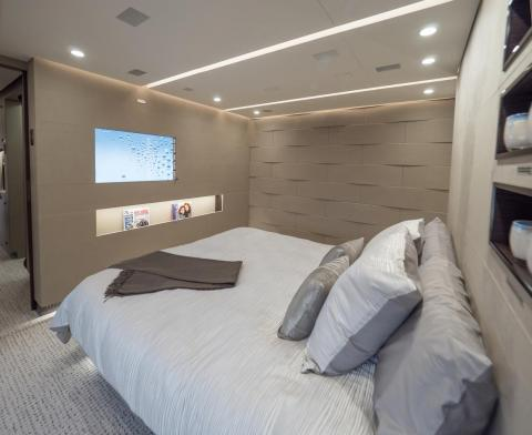 There's also a master suite with a California king bed, a walk-in closet ...