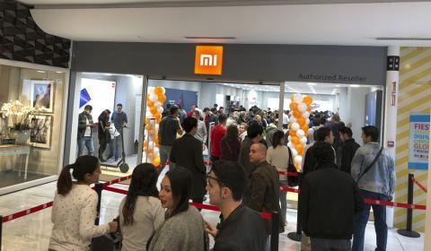 Día de la inauguración de la tienda física de Xiaomi en La Vaguada, el 11 de noviembre de 2017