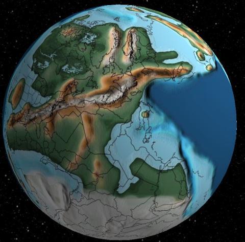 Tierra y España hace 300 millones de años