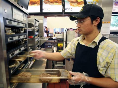 trabajadora McDonalds