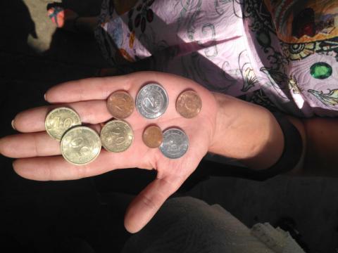 Una vecina nos muestra euros de 1998 de Churriana
