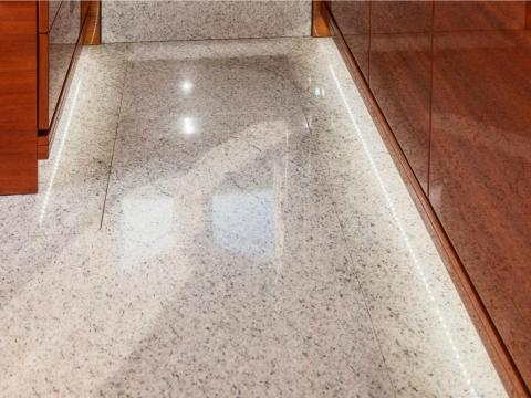 While its floors are covered with fine carpets and shining stonework.