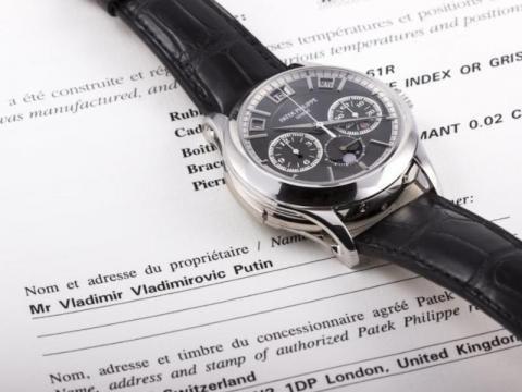 A $1 million Patek Phillippe going up for auction in July 2017 was also said to be owned by Putin. Accompanying documentation claimed he was the owner. The Kremlin denied these claims.