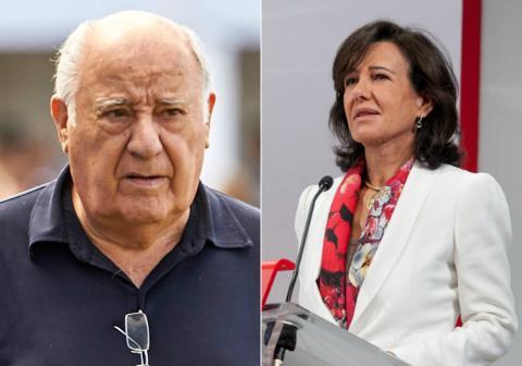 Amancio Ortega y Ana Botín