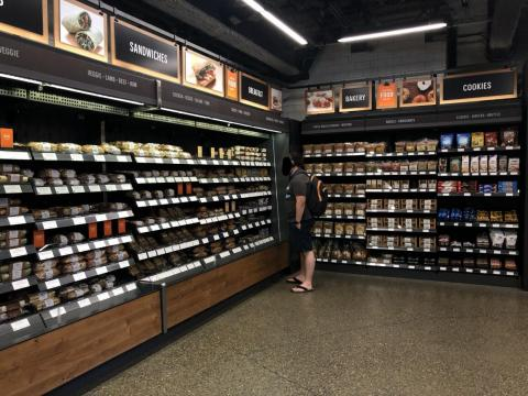 The Amazon Go store is pretty small. And truth be told, it looks a lot like any other upscale-ish convenience store.