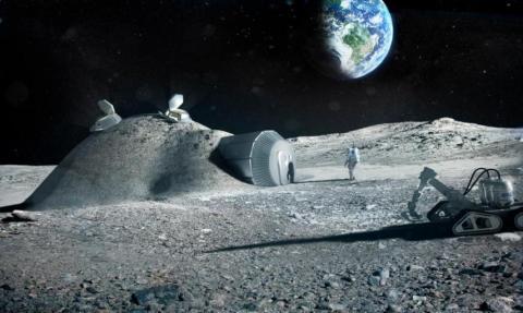 Astronautas en la Luna