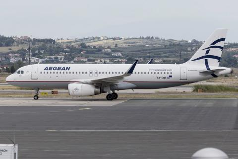 Avión de Aegean Airlines
