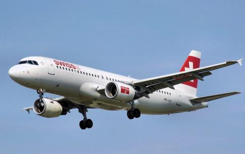 Avión de Swiss international Air Lines