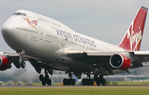 Avión de Virgin Atlantic