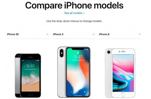 BONUS: Compare different iPhone models super easily with Apple's tool.