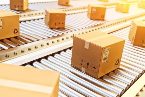 Cajas de cartón, embalaje, pedidos, transporte, paquetes
