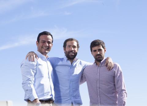 Los fundadores de Chipi, Jorge, Emilio y Javier