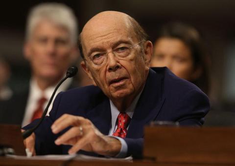 El secretario de Comercio Wilbur Ross.