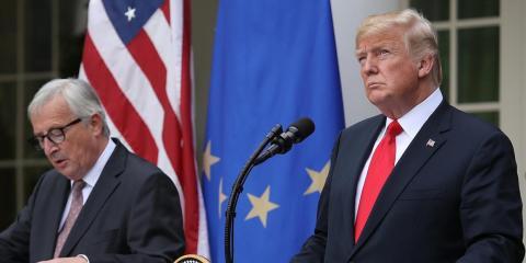 Donald Trump y Jean-Claude Juncker, Presidente de la Comisión Europea