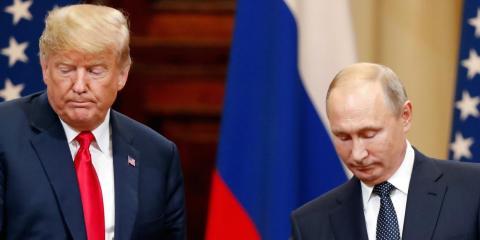 Donald Trump y Vladimir Putin. [RE]
