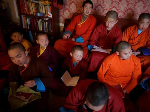 Finding young people to become students at the monastery can be an arduous task.