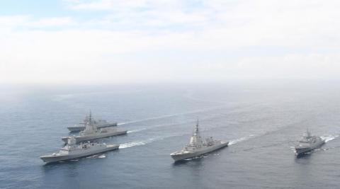 Fragatas AEGIS de Navantia en aguas de Ferrol