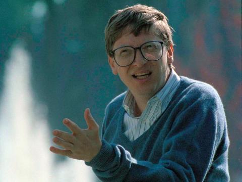 Bill Gates en 1992 — Después de que Microsoft fuera considerada una startup pero antes de que se convirtiera en la poderosa fuerza mundial que es hoy en día.