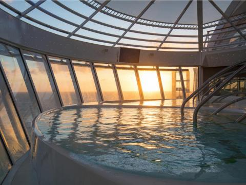 Hot tubs are available for those who want to relax.