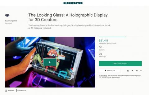 If that's a future that appeals to you, or you're a 3D designer, you can pre-order your Looking Glass on Kickstarter. They're aiming to deliver them by December.